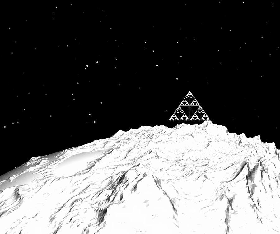 Planetary Mountain Digital Art