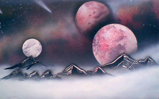 Space Painting - Planets and Fog by Jonathan Munden