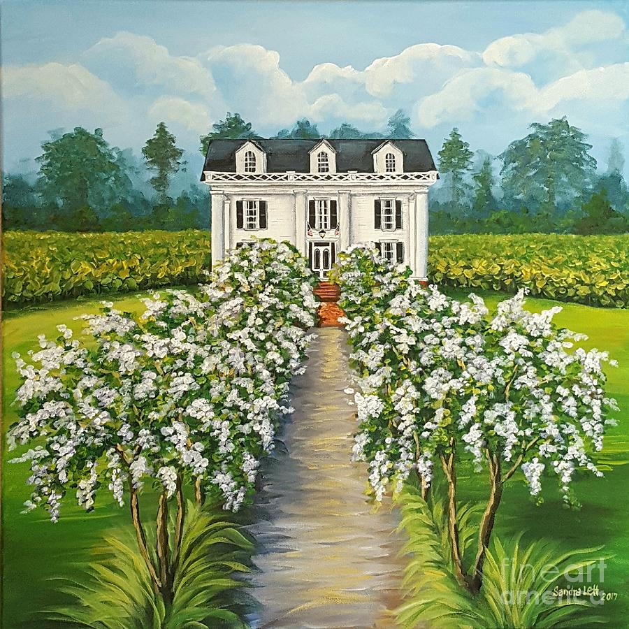 Plantation Painting - Plantation Home by Sandra Lett