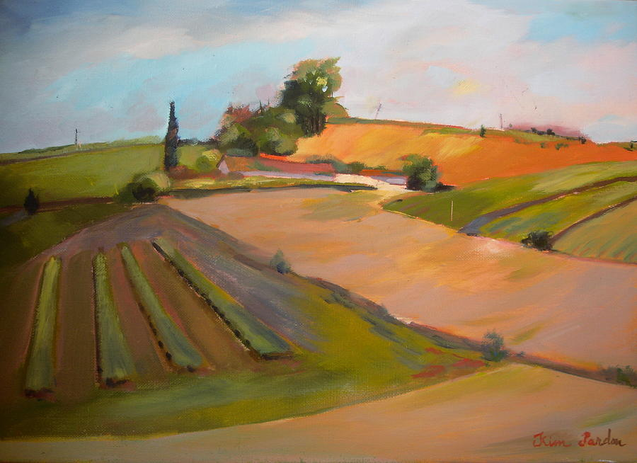Planting Land In Charente Painting