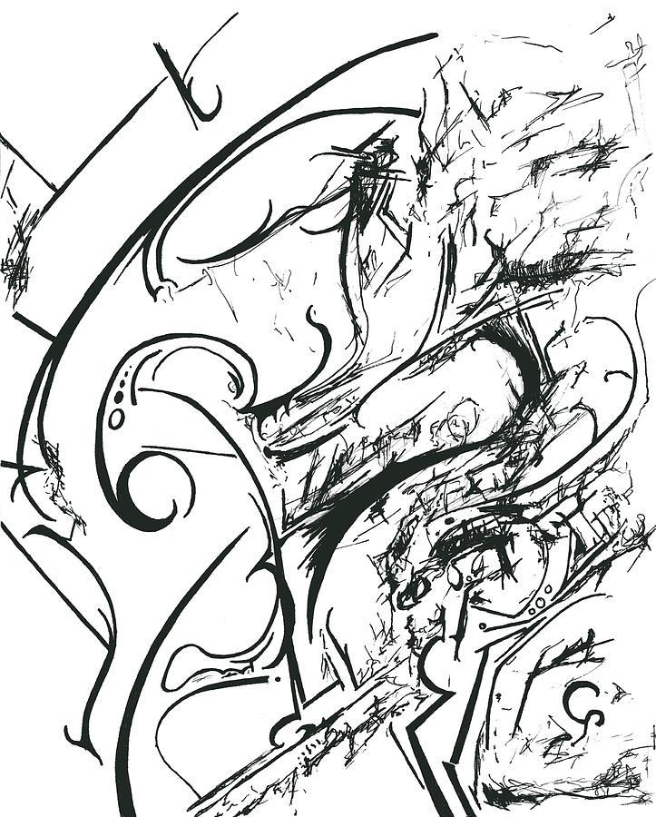 Plasmogamy Drawing - Plasmogamy015 by TripsInInk