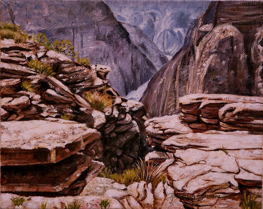 Landscape Painting - Plateau Point by Rosencruz  Sumera