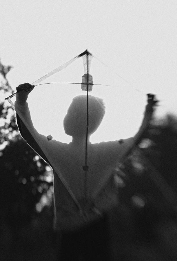 Boy Photograph - Play A Kite #2 by Jay Satriani