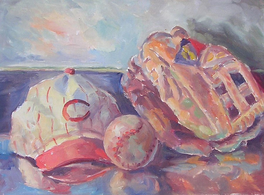 Still Life Painting - Play Ball by Mark Hartung