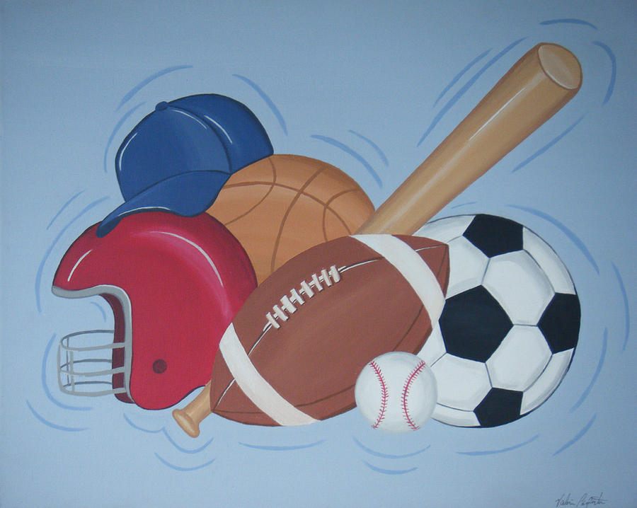 Balls Painting - Play Ball by Valerie Carpenter