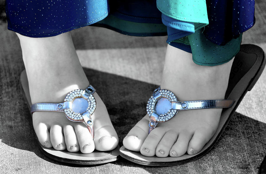 Foot Photograph - Play Footsie by Karen M Scovill