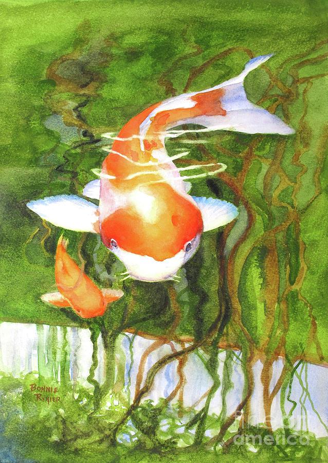 Koi Fish Painting - Play Koi With Me by Bonnie Rinier