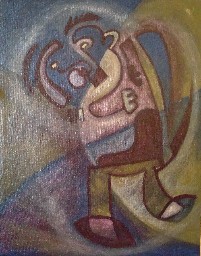 Abstract Figure Painting - Play Me Something by W  Todd Durrance