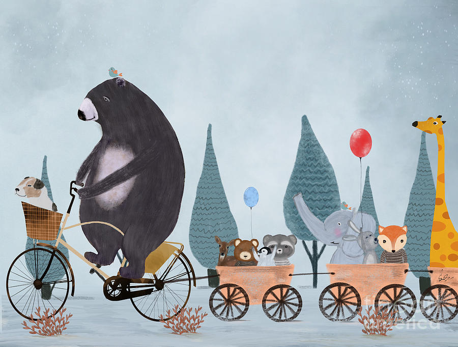 Bears Painting - Play Time by Bri Buckley