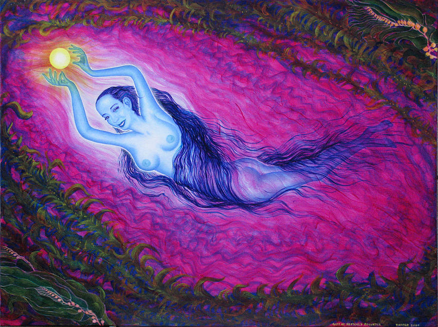 Goddess Painting - Play by Tom Hefko
