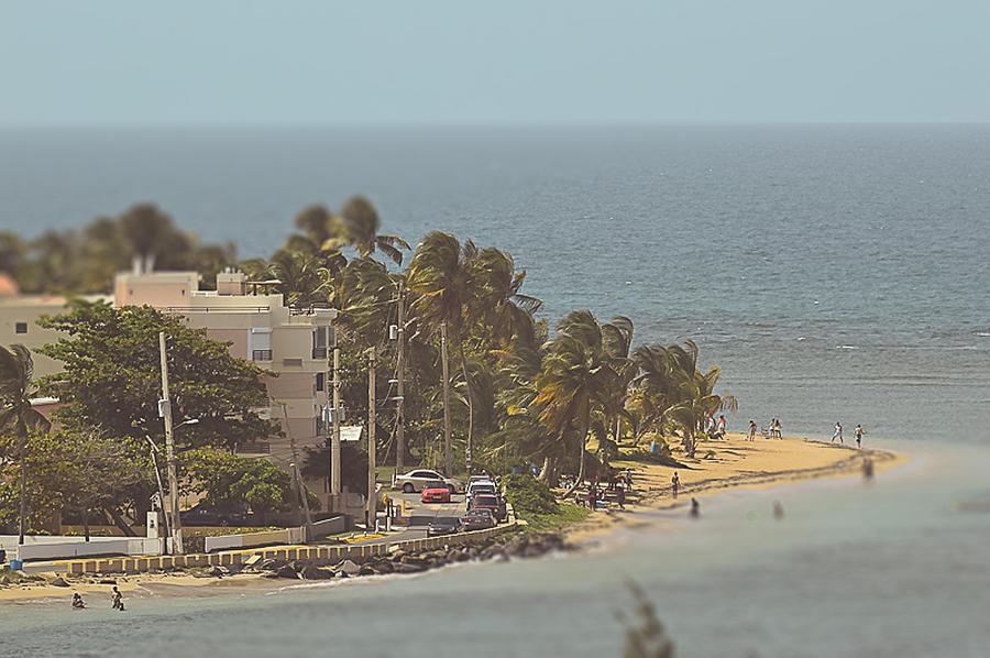 Beach Photograph - Playa Azul I by Lena del Sol Langaigne