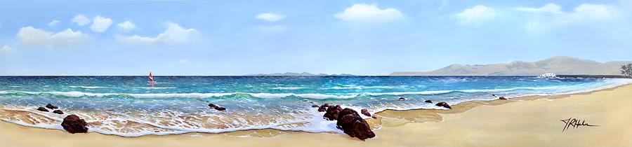 Canary Islands Painting - Playa Grande by James R Hahn