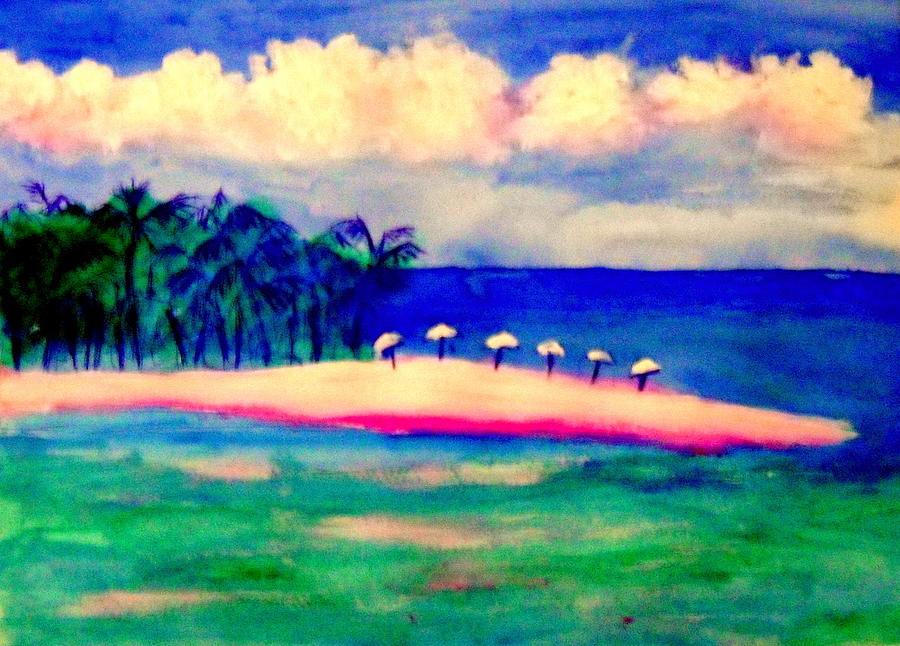 Playa Norte Isla Mujeres Painting by Ted Hebbler