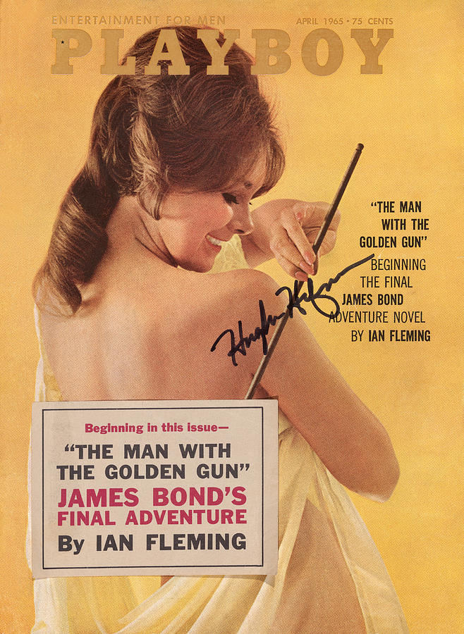 Limited Photograph - Playboy Magazine Poster Signed by Playboy
