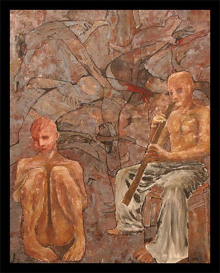 Player Painting by Hugo Petr Novak