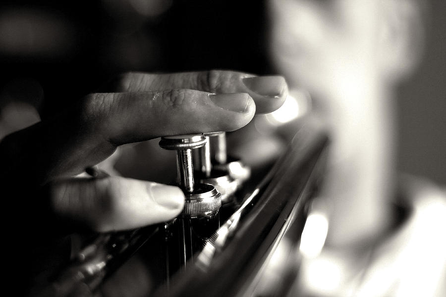Music Photograph - Player by Mark Kling