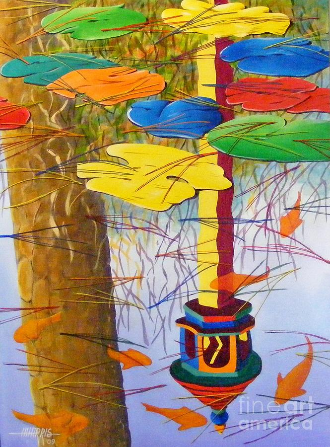 Landscape Painting - Playful Pond by Hugh Harris