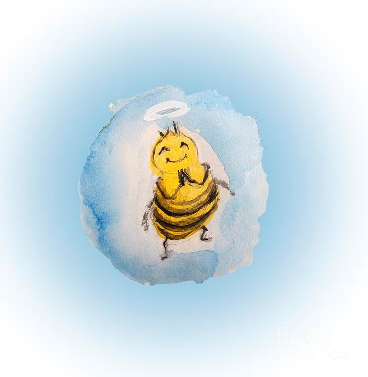 Playful Prayerful Bee by Claremaria Vrindaji Bowman