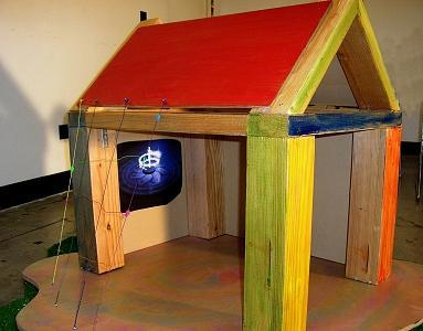 Playground Home Sculpture by Margaret Knight