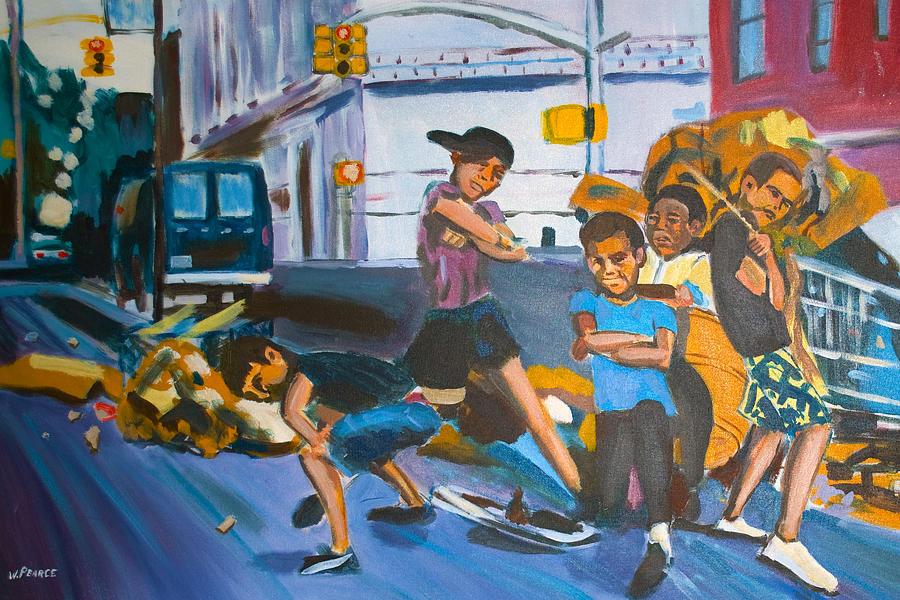 New York City Painting - Playground by Wayne Pearce