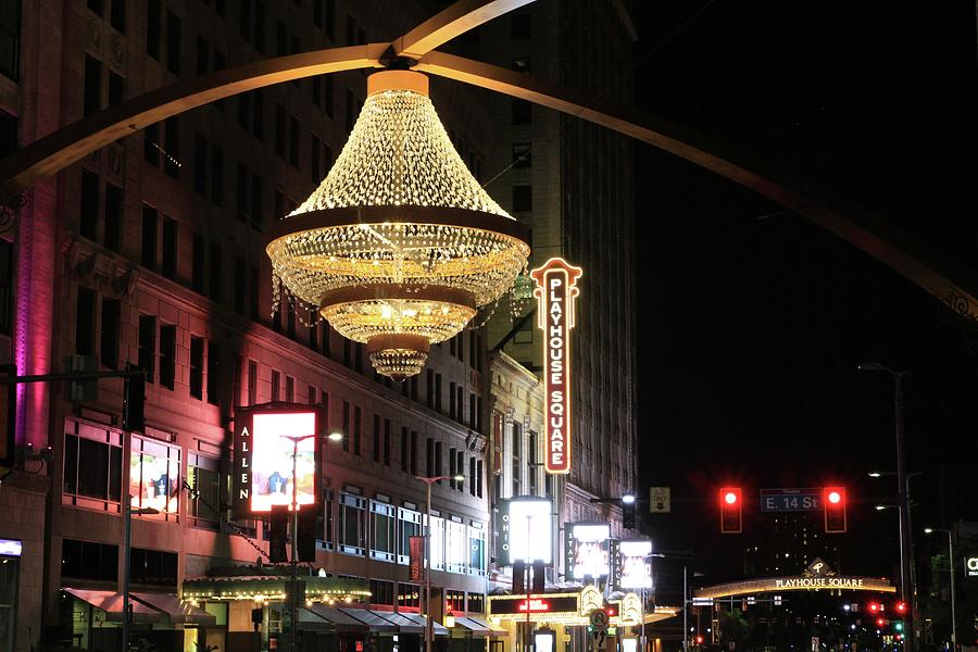 Playhouse Square Chandelier Photograph by Rod Flauhaus