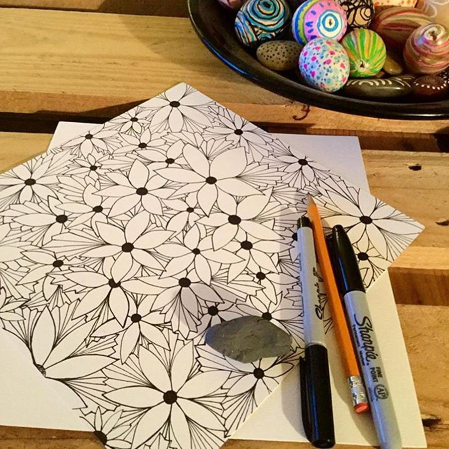 Coloringbook Photograph - Playin With Sharpies, Working On Some by Robin Mead