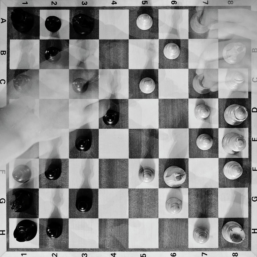 Chess Photograph - Playing chess by Kolbein Svensson