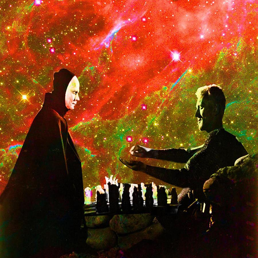 Portrait Digital Art - Playing Chess With Death by Matthew Lacey