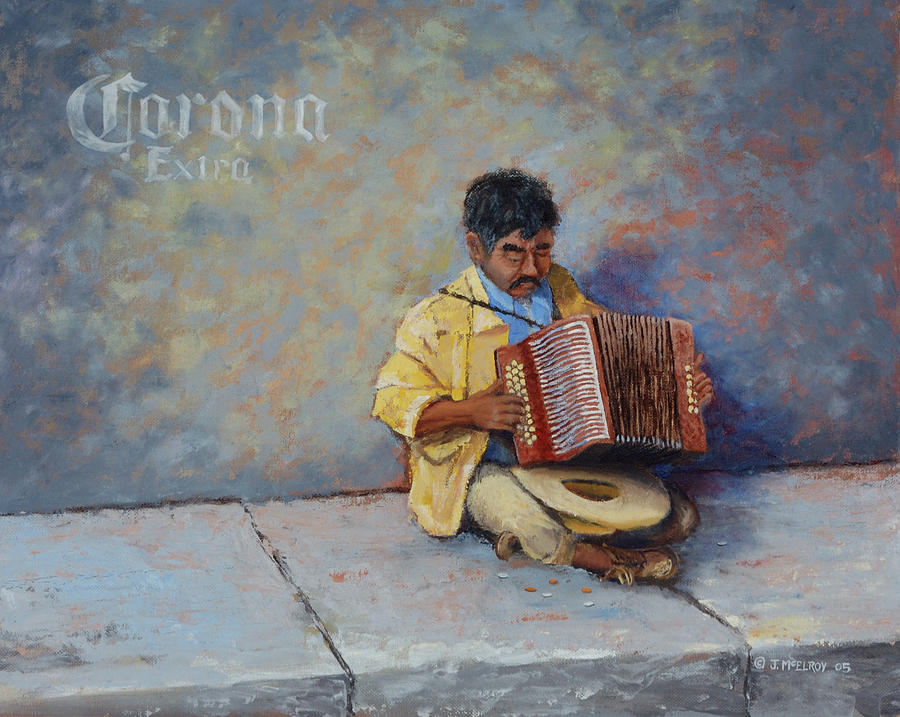 Mexico Painting - Playing For Pesos by Jerry McElroy