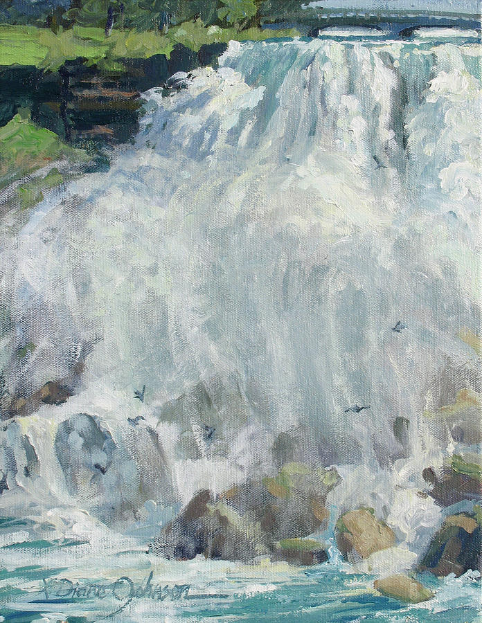 Niagara Falls Painting - Playing In The Mist - Niagara Falls by L Diane Johnson