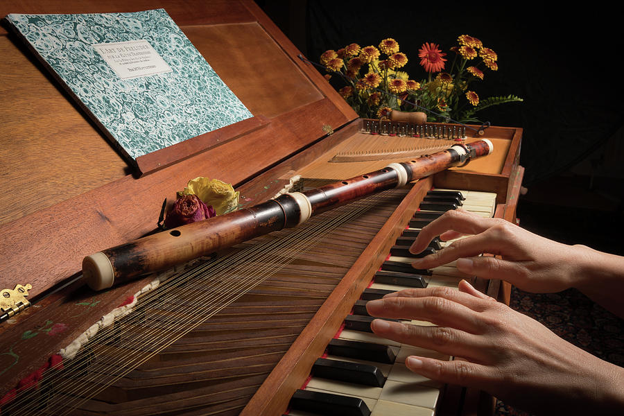 Playing On An Old Baroque Clavichord And Wooden Traverse Flute By Stefan Rotter