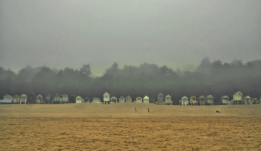 Wells Photograph - Playing On The Foggy Beach  by Nick Bywater