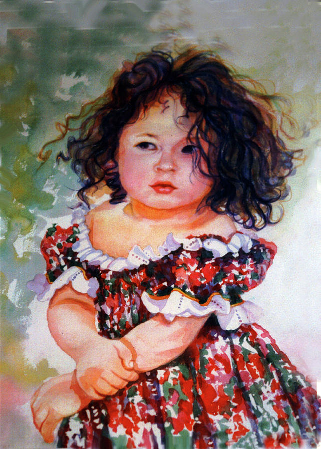 Watercolor Painting - Playing To Be A Model by Estela Robles