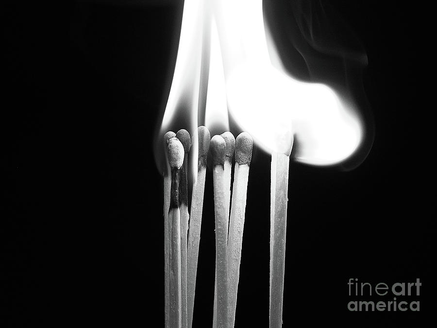 Fire Photograph - Playing With Fire by Valerie Morrison