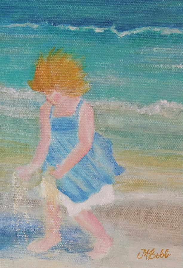 Seashore Painting - Runs with Sand by Margaret Bobb