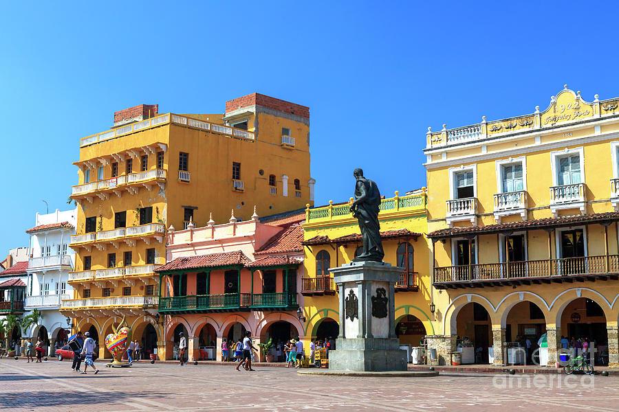 Public Square Photograph - Plaza De Los Coches by John Rizzuto