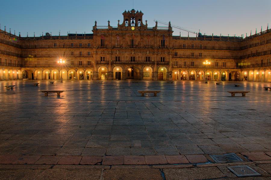 Salamanca Photograph - Plaza Mayor In Salamanca by Amber Lea Starfire
