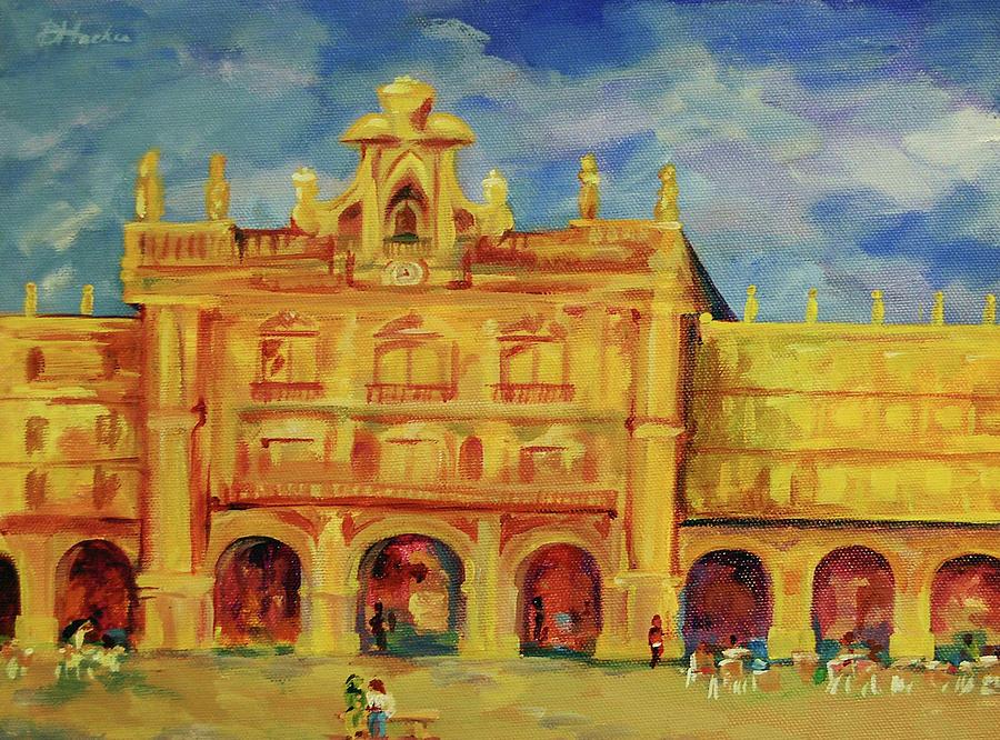 European City Painting - Plaza Mayor Salamanca by Danielle Hacker