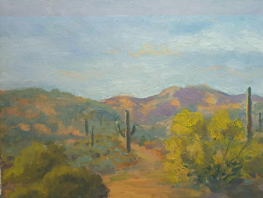 Phoenix Painting - Pleasant Lake Recreation Area by Nora Sallows