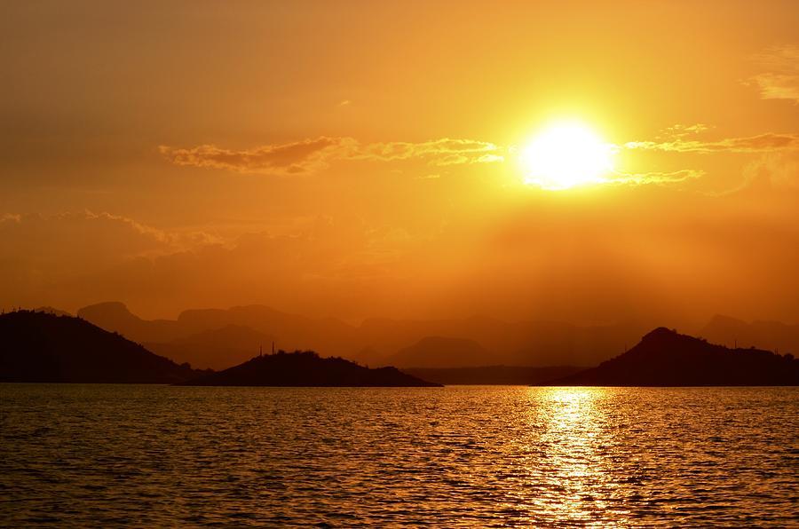 Golden Sunset Photograph - Pleasant Sunset by Casey Weinstein