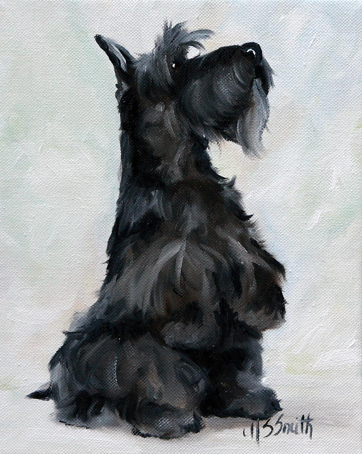 Dog Painting - Please by Mary Sparrow