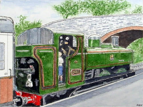 Please May I Drive? - Llangollen Steam Railway, North Wales Painting by Peter Farrow