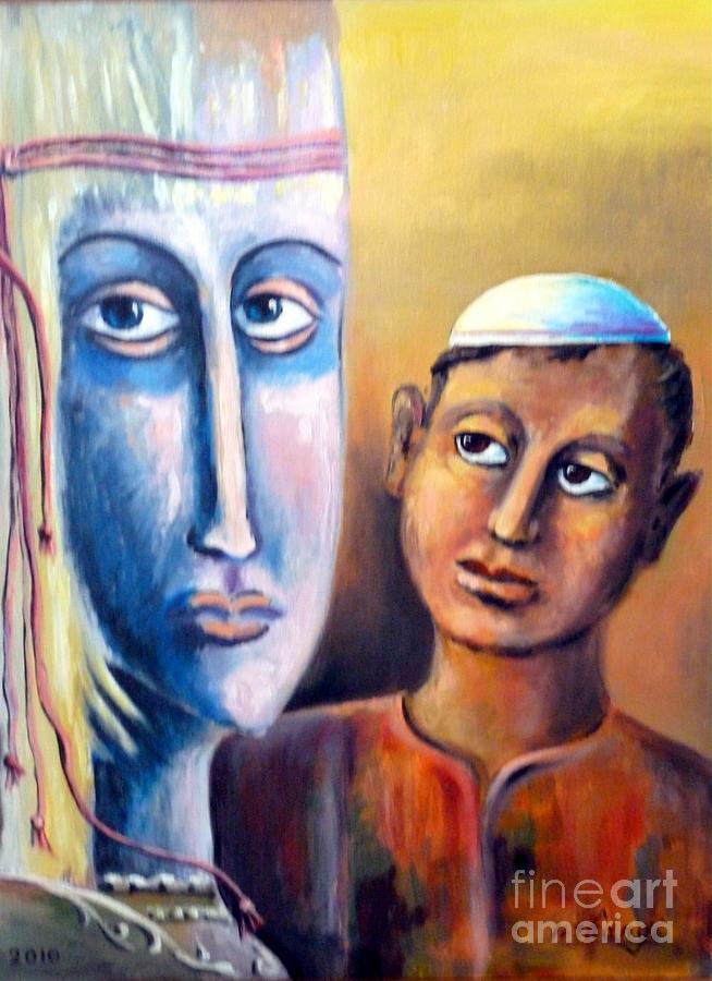 Fantasy Painting - Please by Ushangi Kumelashvili