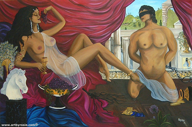 Mythology Painting - Pleasure Dome by Rosie Harper