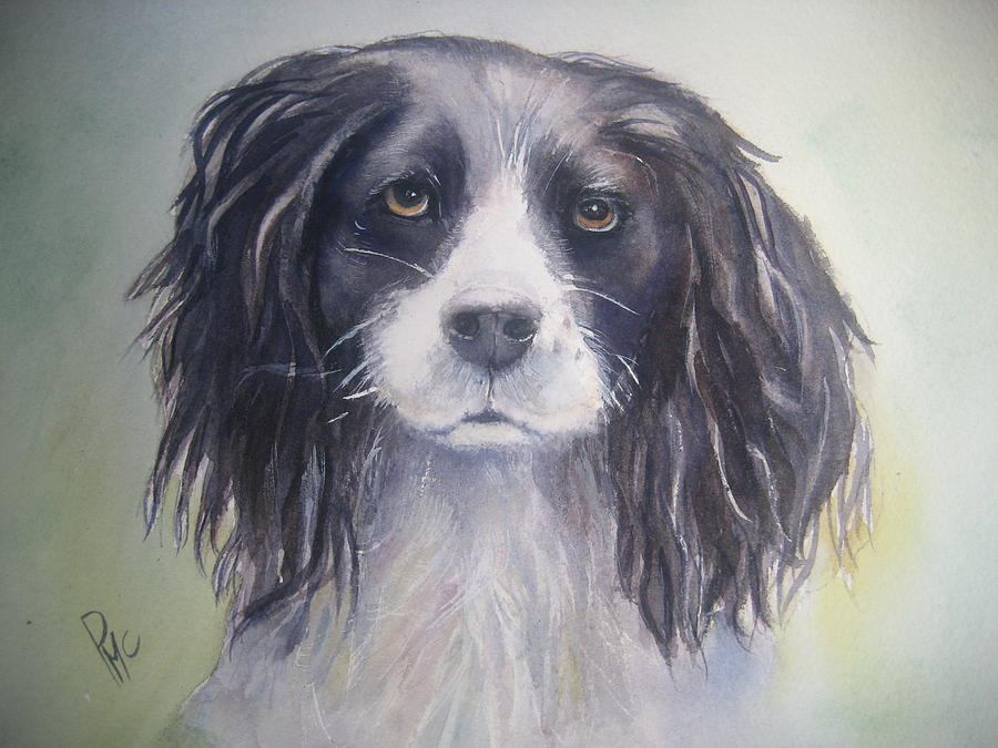 Dog Painting - Pleeeese Play by Patricia Pushaw