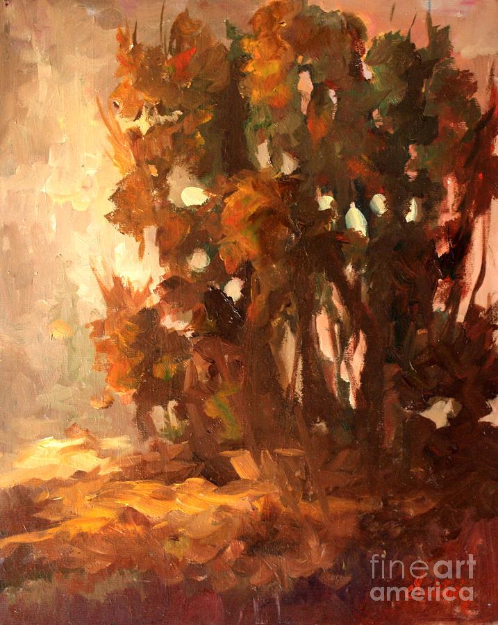 Plein Air Painting - Plein Air At Hyw29 by Gail Salitui