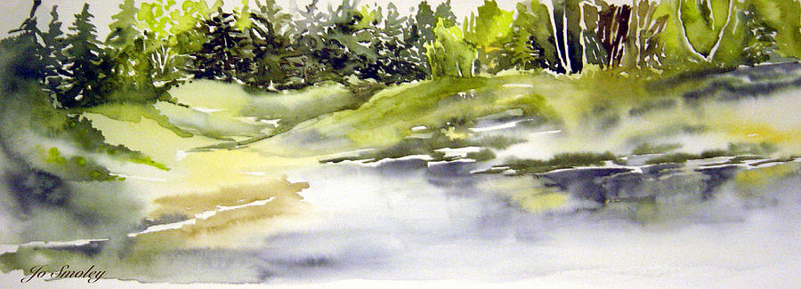 Water Painting - Plein Air At The Pond At Nutimik  by Joanne Smoley