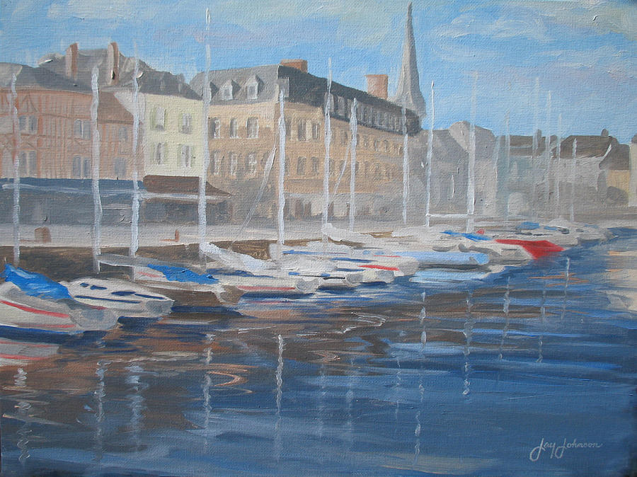 Landscape Painting - Plein Air Harbor by Jay Johnson