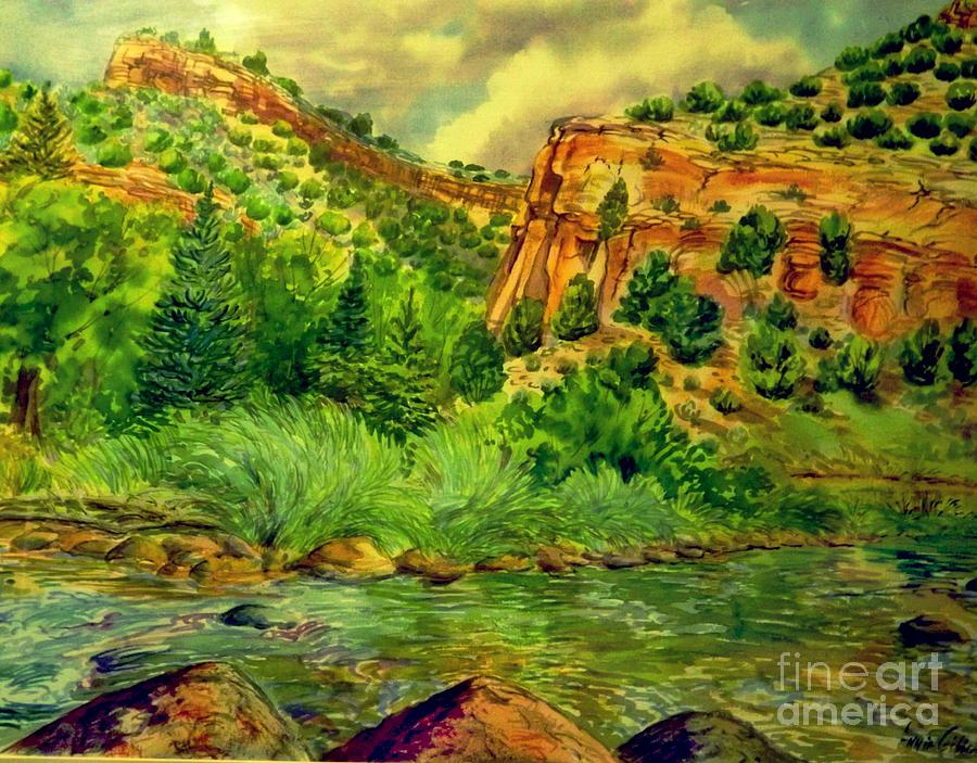 Plein  Air Of Eagle River Digital Art by Annie Gibbons