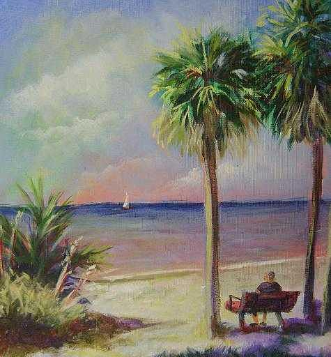 Fl Painting - Plein Air Painting At Ponce De Leon Park  by Clare Harvey